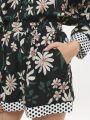 מכנסיים קצרים בהדפס פרחיםמכנסיים קצרים בהדפס פרחים של GLAMOROUS image №5