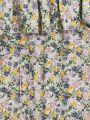 שמלת מלמלה בהדפס פרחיםשמלת מלמלה בהדפס פרחים של MANGO image №4