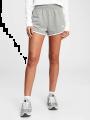 מכנסי מלאנז' קצרים עם לוגו / נשיםמכנסי מלאנז' קצרים עם לוגו / נשים של GAP image №1