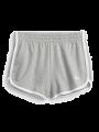 מכנסי מלאנז' קצרים עם לוגו / נשיםמכנסי מלאנז' קצרים עם לוגו / נשים של GAP image №3