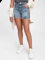 מכנסי ג'ינס קצרים עם קרעים / TEENמכנסי ג'ינס קצרים עם קרעים / TEEN של GAP image №1