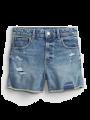 מכנסי ג'ינס קצרים עם קרעים / TEENמכנסי ג'ינס קצרים עם קרעים / TEEN של GAP image №2
