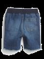 מכנסי ג'ינס קצרים עם פרנזים / 12M-5Yמכנסי ג'ינס קצרים עם פרנזים / 12M-5Y של GAP image №2