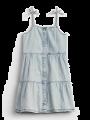 שמלת ג'ינס קומות בשטיפה בהירה / 12M-5Yשמלת ג'ינס קומות בשטיפה בהירה / 12M-5Y של GAP image №1