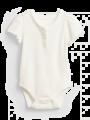 בגד גוף ריב קצר עם כפתורים / 0-24Mבגד גוף ריב קצר עם כפתורים / 0-24M של GAP image №1