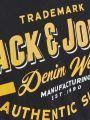 טי שירט עם הדפס לוגוטי שירט עם הדפס לוגו של JACK AND JONES image №4
