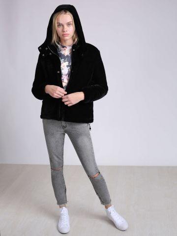 מכנסי סקיני ג'ינס עם קרעים Freebirds של ONE TEASPOON