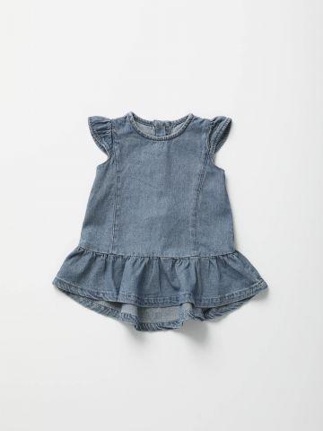 שמלת ג'ינס מיני עם כפתורים מאחור / בייבי בנות - בנות של TERMINAL X KIDS
