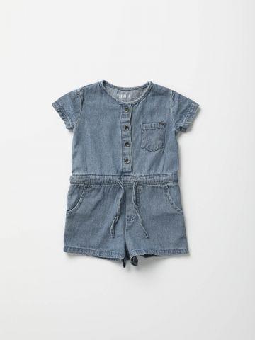 אוברול ג'ינס עם כיס בחזית / 3M-3Y של TERMINAL X KIDS
