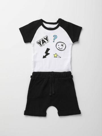 סט בגד גוף ומכנסיים קצרים Yay / בייבי של TERMINAL X KIDS