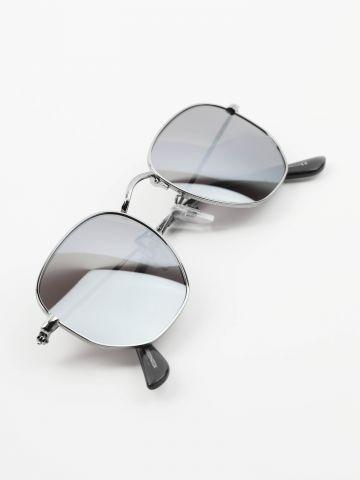 משקפי שמש עגולים בסגנון טייסים של TERMINAL X