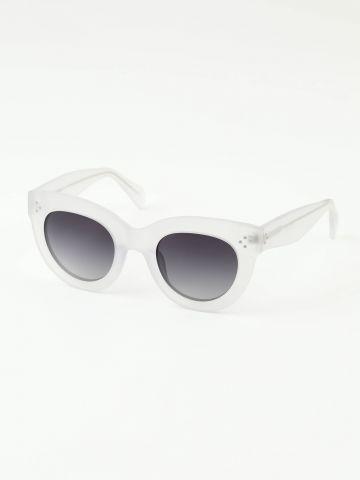משקפי שמש עגולים עם מסגרת פלסטיק של TERMINAL X