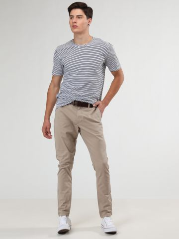 מכנסי צ'ינו ארוכים עם סיומת קיפולים של MINIMUM