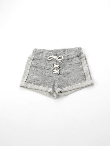 מכנסי פרנץ' טרי קצרים עם שרוך קשירה / בנות של TERMINAL X KIDS