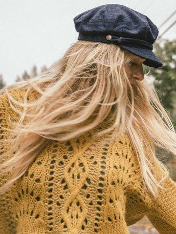 כובע קסקט בעיטור חבל Brixton של URBAN OUTFITTERS