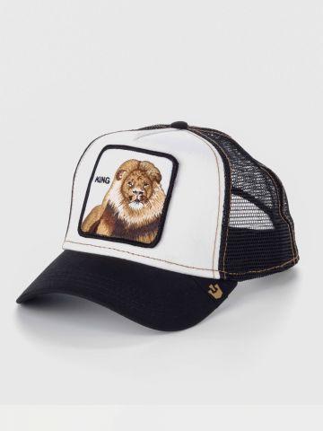 כובע מצחיה עם פאץ' אריה של GOORIN BROS