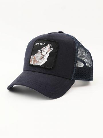 כובע מצחייה עם פאץ' זאב של GOORIN BROS