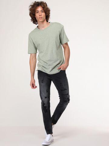 ג'ינס סקיני עם הלבנה ושפשופים Finsbury של PEPE JEANS