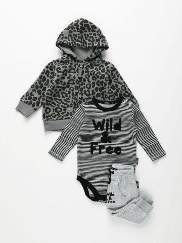 חליפת גן 3 חלקים Wild & Free / בייבי בנות של TERMINAL X KIDS