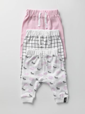 מארז 3 מכנסיים בהדפסים שונים / בייבי בנות של TERMINAL X KIDS