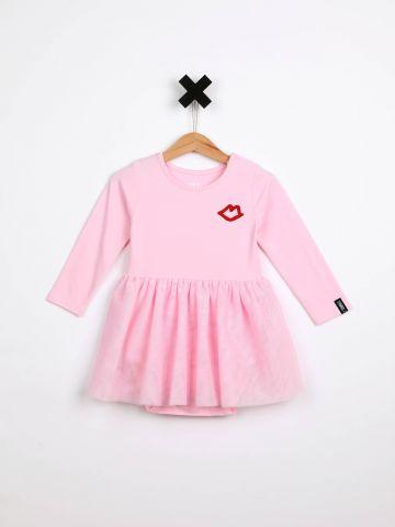 שמלת בגד גוף עם הדפס Kiss וחצאית טול / בייבי בנות של TERMINAL X KIDS