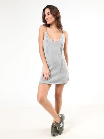 שמלת מיני סרוגה עם כתפיות קשירה של DOUBLE AGENT