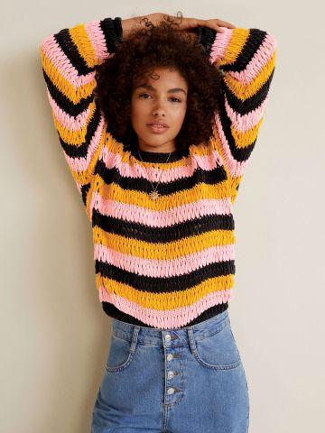 סוודר פסים מולטי קולור של MANGO
