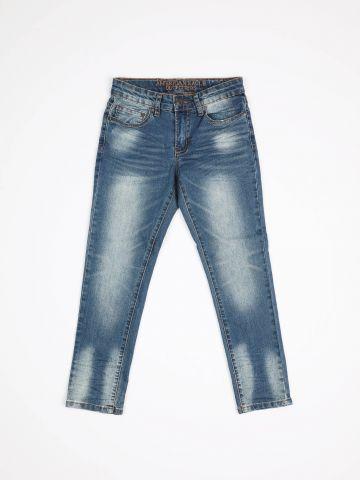 ג'ינס סקיני בשטיפה בהירה עם הלבנה / בנים של AMERICAN EAGLE