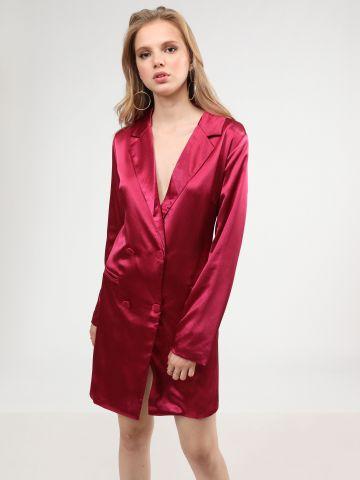שמלת בלייזר מיני סאטן של GLAMOROUS