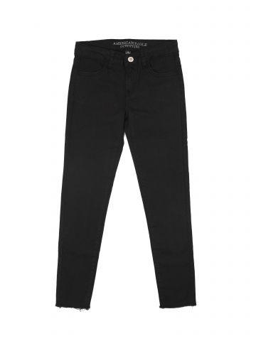 ג'ינס סקיני סטרצ' עם סיומת פרומה / בנות של AMERICAN EAGLE