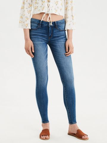 ג'ינס סקיני סטרצ' עם הלבנה Jegging של AMERICAN EAGLE
