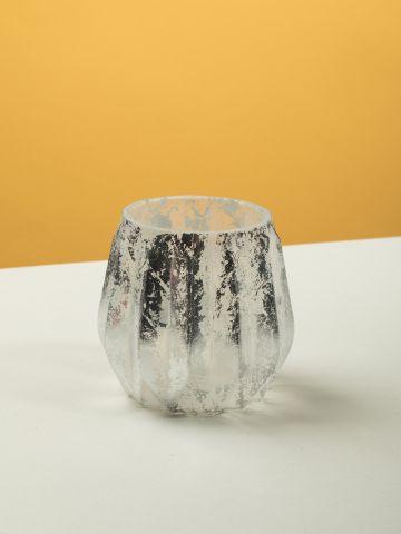 עששית זכוכית בסגנון משופשף Foil של FOX HOME