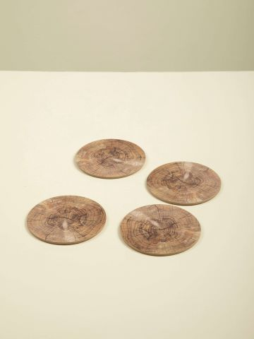 תחתית עגולה לכוסות בהדפס עץ של FOX HOME