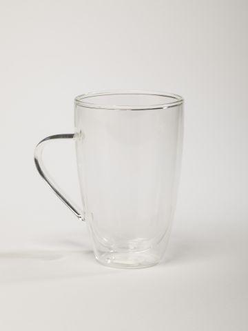 מאג גבוה מזכוכית כפולה לשתייה חמה של FOX HOME