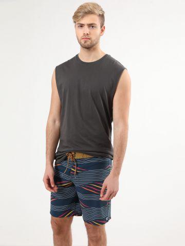 מכנסי בגד ים בהדפס פסים מולטי קולור של BILLABONG