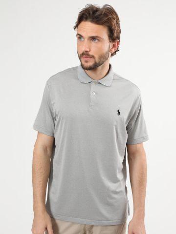 חולצת פולו לייקרה עם לוגו של RALPH LAUREN