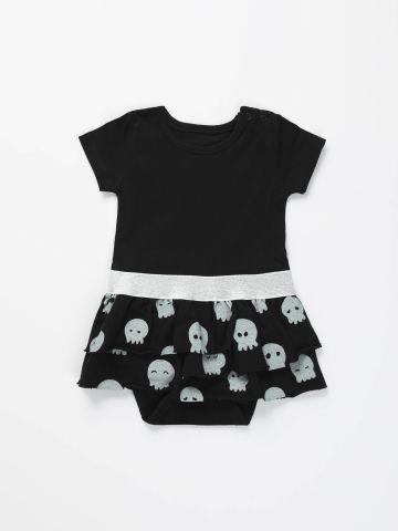 בגד גוף שמלה בסגנון שכבות של TERMINAL X KIDS