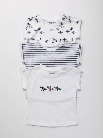 מארז 3 חולצות טי שירט גלישה / N.B-3Y של TERMINAL X KIDS