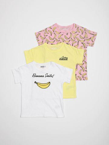 מארז 3 חולצות טי שירט בננה / N.B-3Y של TERMINAL X KIDS