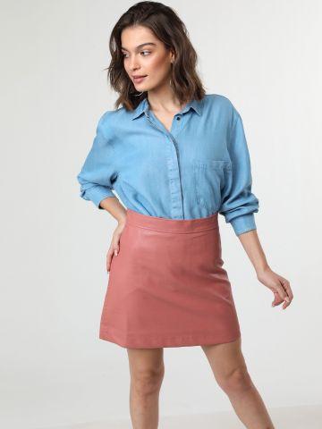 חצאית מיני דמוי עור של TERMINAL X