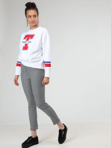 מכנסי סקיני בהדפס משבצות של TERMINAL X