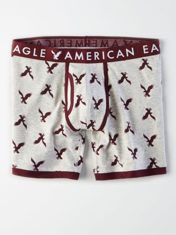 תחתוני בוקסר ג'רסי לונגליין מולטי לוגו / גברים של AMERICAN EAGLE