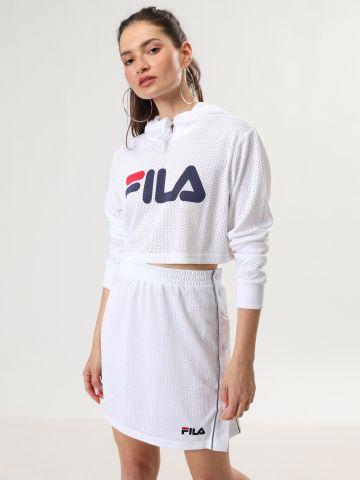 חצאית מיני רשת עם כפתורים של FILA