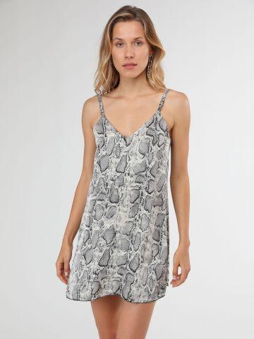 שמלת מיני בייבי דול בהדפס נחש של TERMINAL X