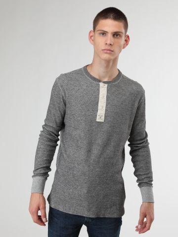 חולצה בטקסטורת פיקה עם כפתורים בחזית של RALPH LAUREN