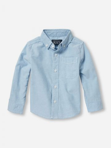 חולצה מכופתרת בייסיק עם כיס / בייבי בנים של THE CHILDREN'S PLACE
