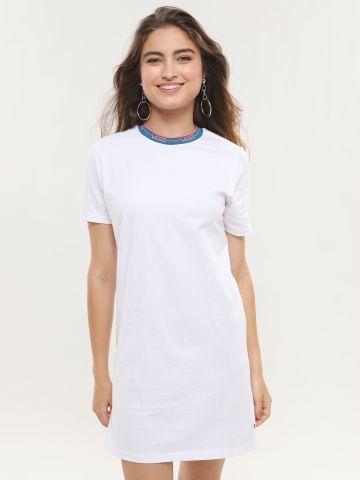שמלת טי שירט מיני רינגר בהדפס לוגו של VANS