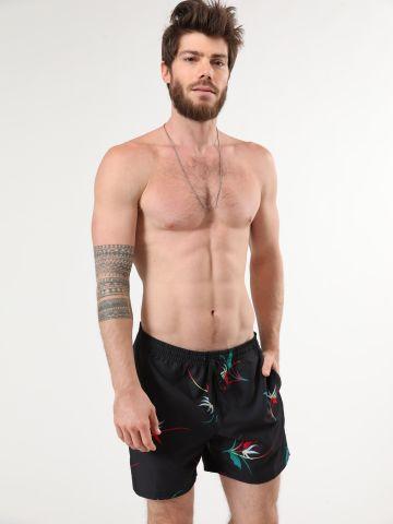 מכנסי בגד ים בהדפס פרחים של VANS