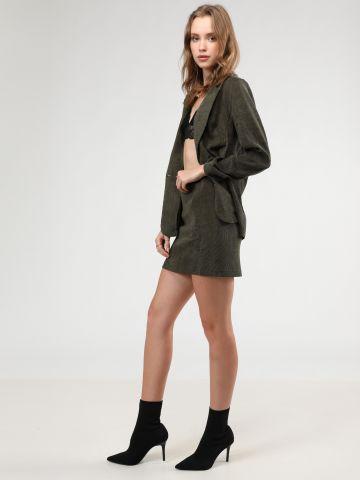 חצאית מיני קורדרוי של TERMINAL X