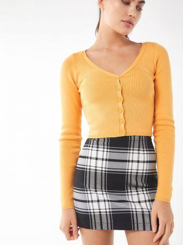 חצאית מיני משבצות UO של URBAN OUTFITTERS